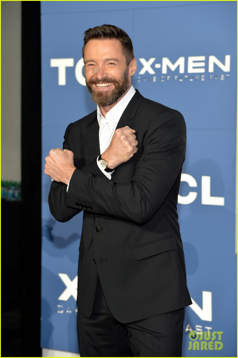 hugh jackman wears bandage on nose to x men premiere 20