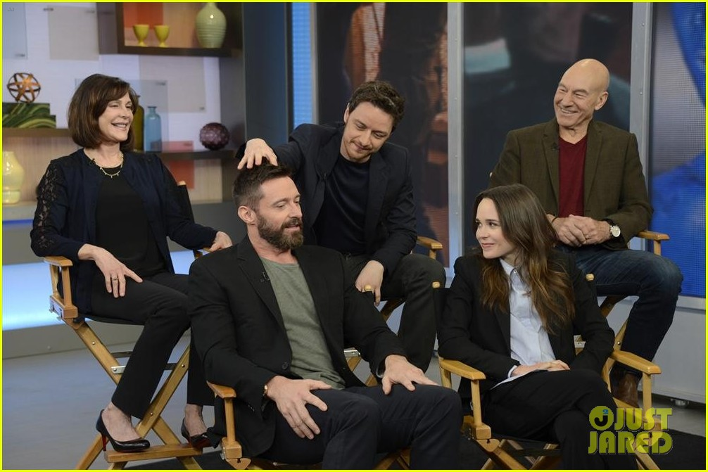 hugh jackman jon hamm bromance moment buddy around at gma 01