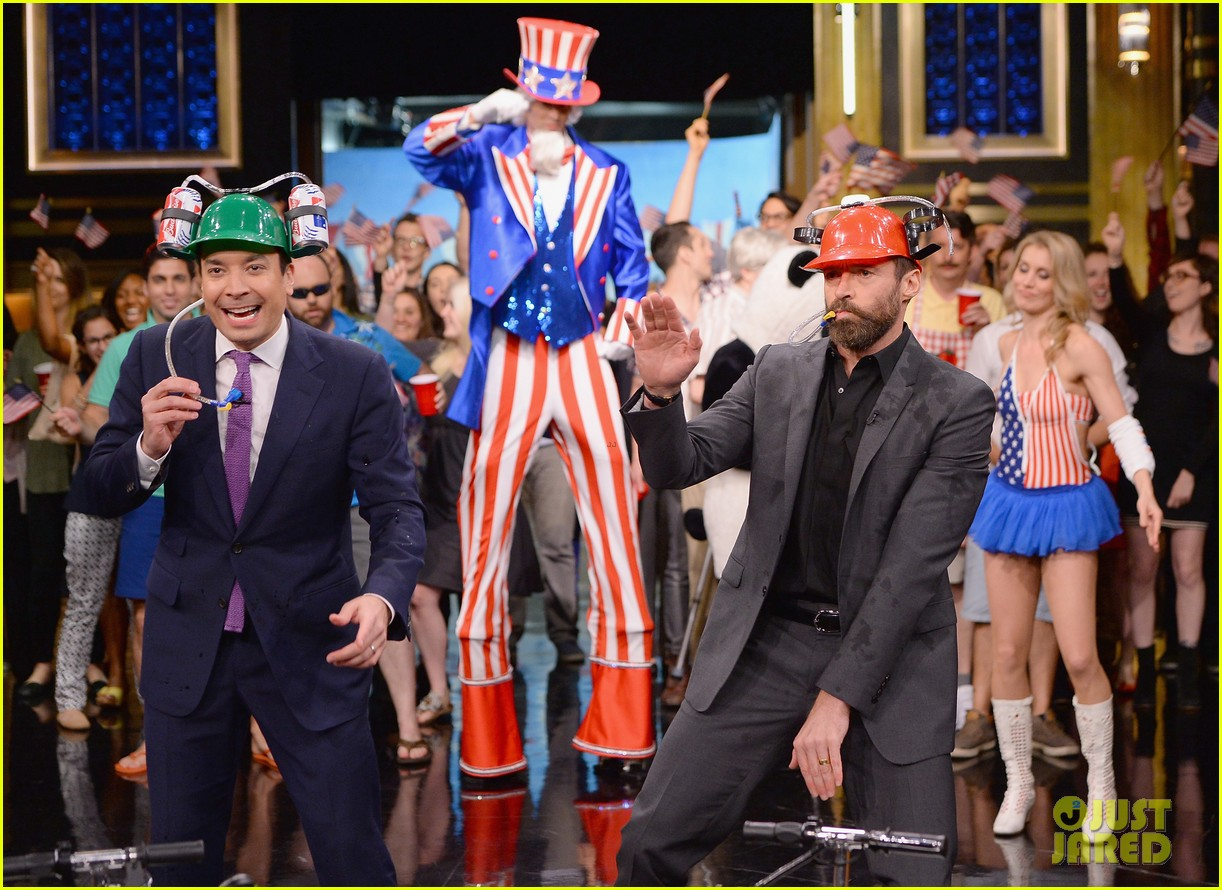 hugh jackman cooler scooter race with jimmy fallon 22
