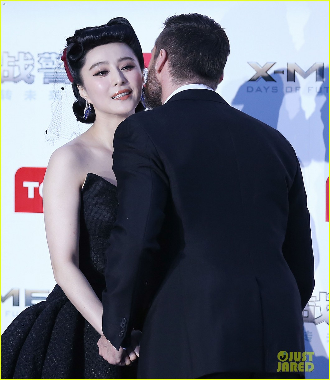hugh jackman premieres x men with fan bingbing peter dinklage in beijing 033113083