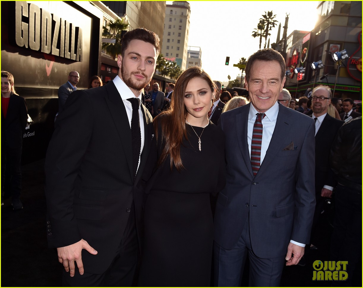 aaron taylor johnson brings wife sam to godzilla premiere 08