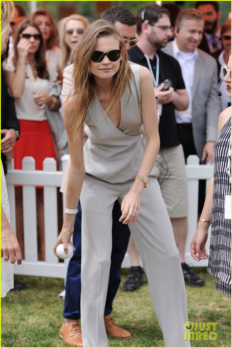 dakota johnson behati prinsloo check out a polo match 163125565
