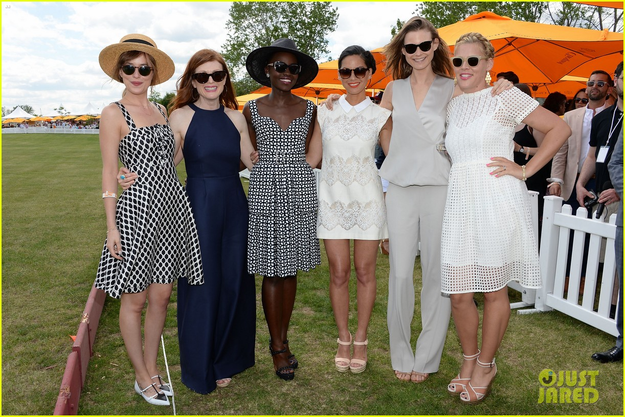 dakota johnson behati prinsloo check out a polo match 21
