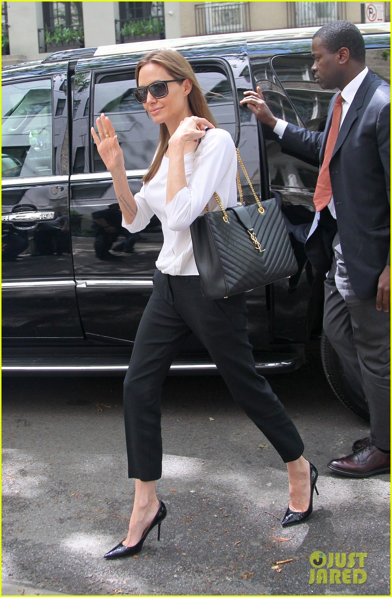angelina jolie heads to meeting in new york city 113111538