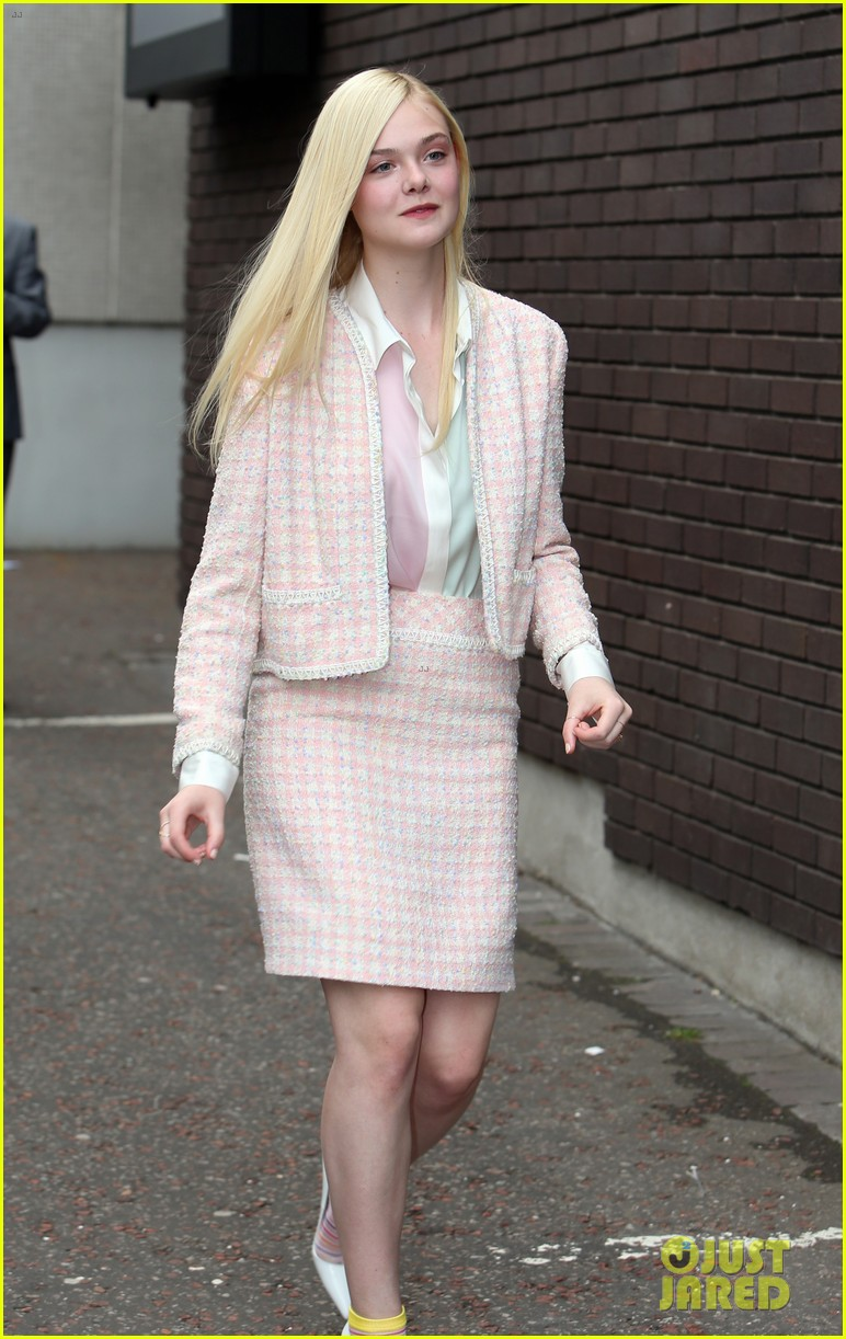 Angelina jolie elle fanning are lovely in white at maleficent london