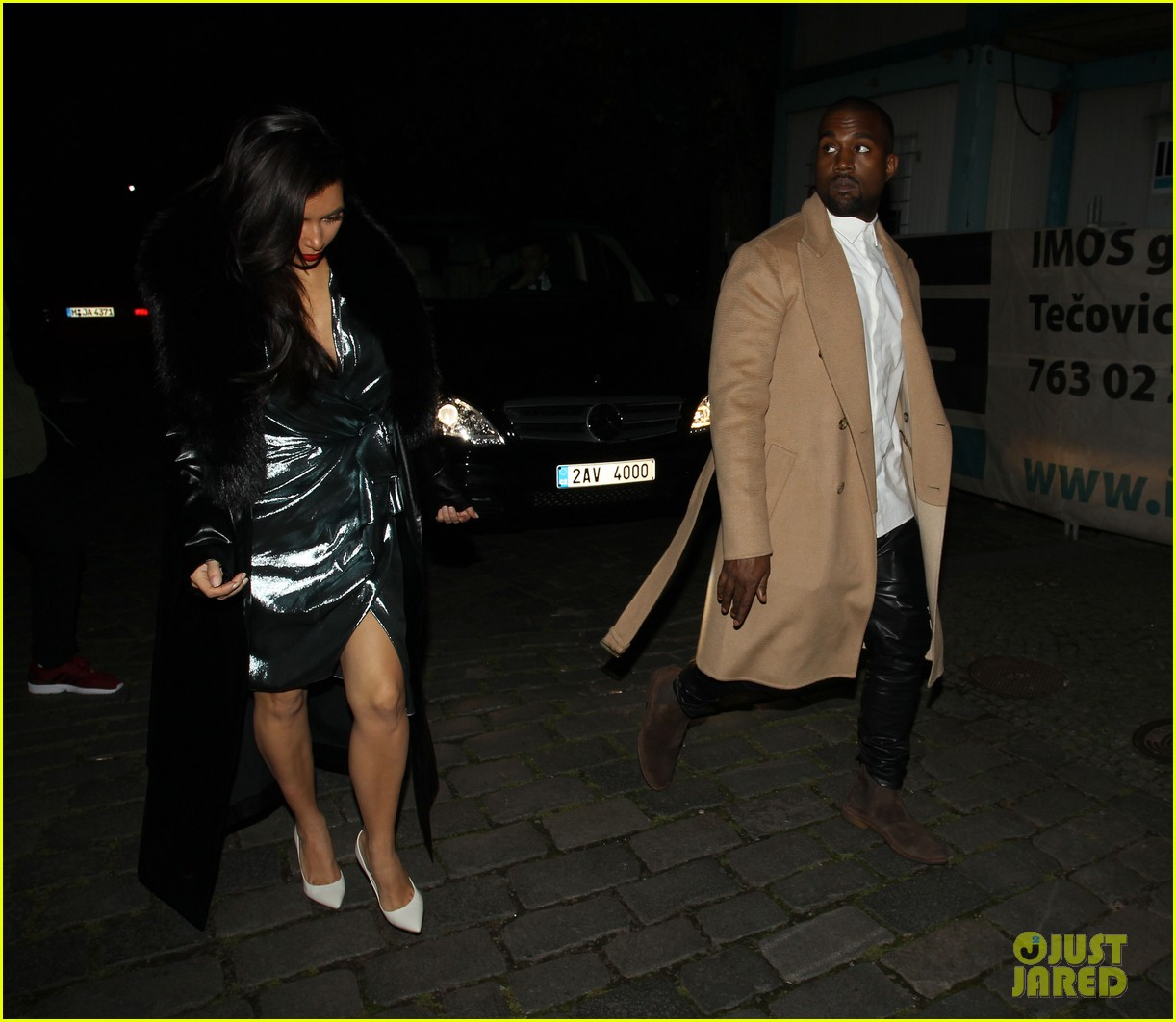 kim kardashian wears flashy dress for honeymoon date night 25
