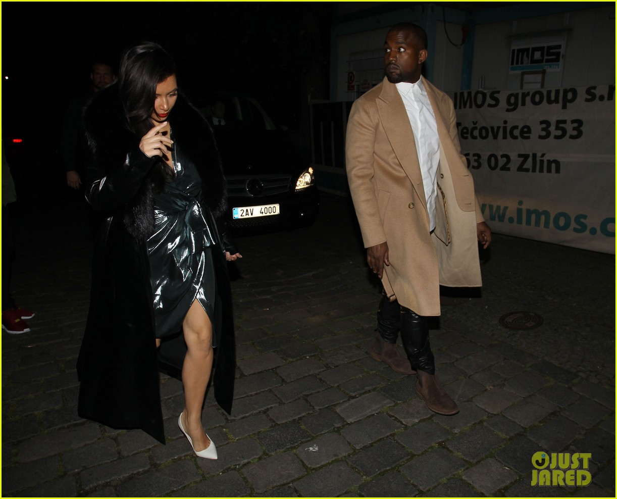 kim kardashian wears flashy dress for honeymoon date night 26