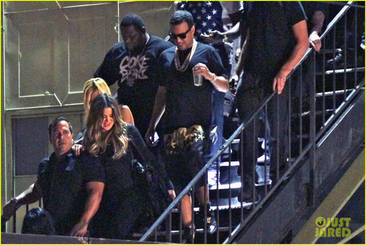 kim kardashian joins khloe to support french montana 133113378