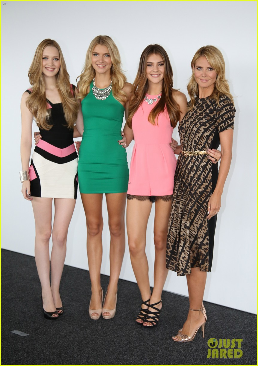 heidi klum attends germanys next topmodel photo call with top three finalists 013106763