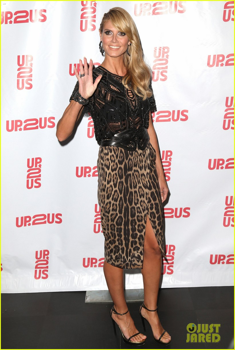 heidi klum supports youth development at up2us gala 09