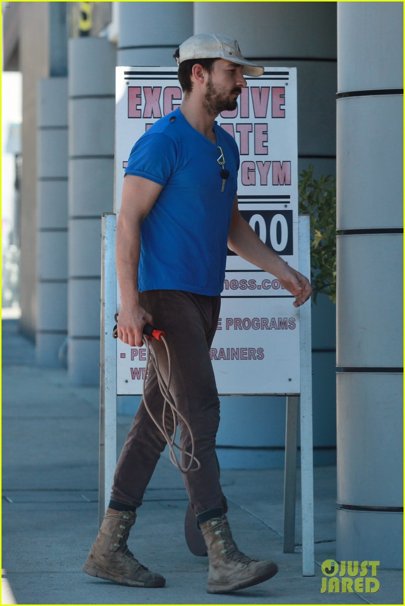 shia labeouf sure is dedicated to the gym these days 14