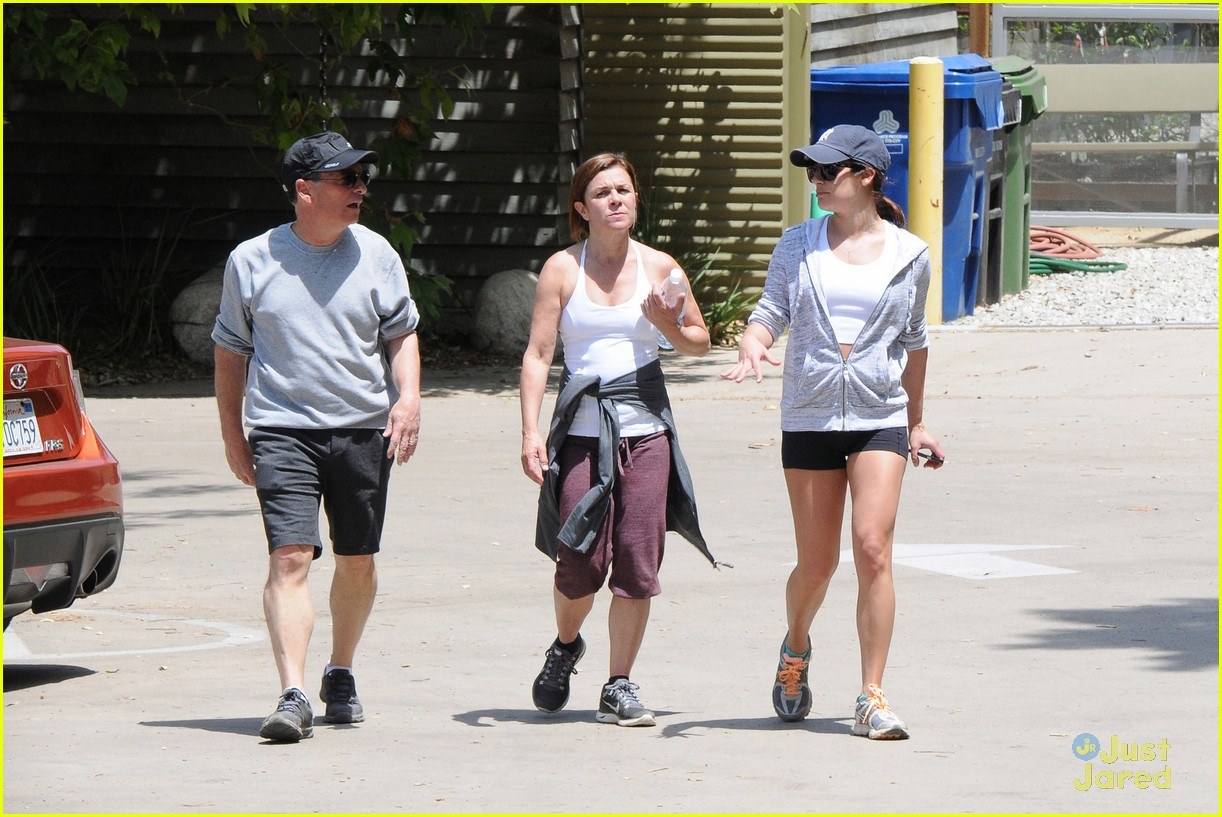 lea michele hike parents funny girl 12