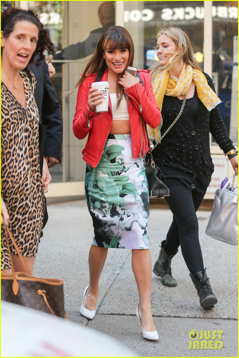 lea michele ny press rounds 08