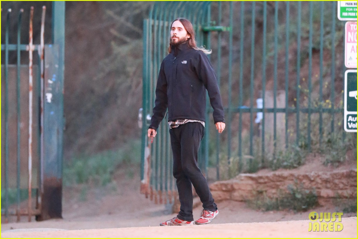 jared leto goes for a hike with a female companion 173109505