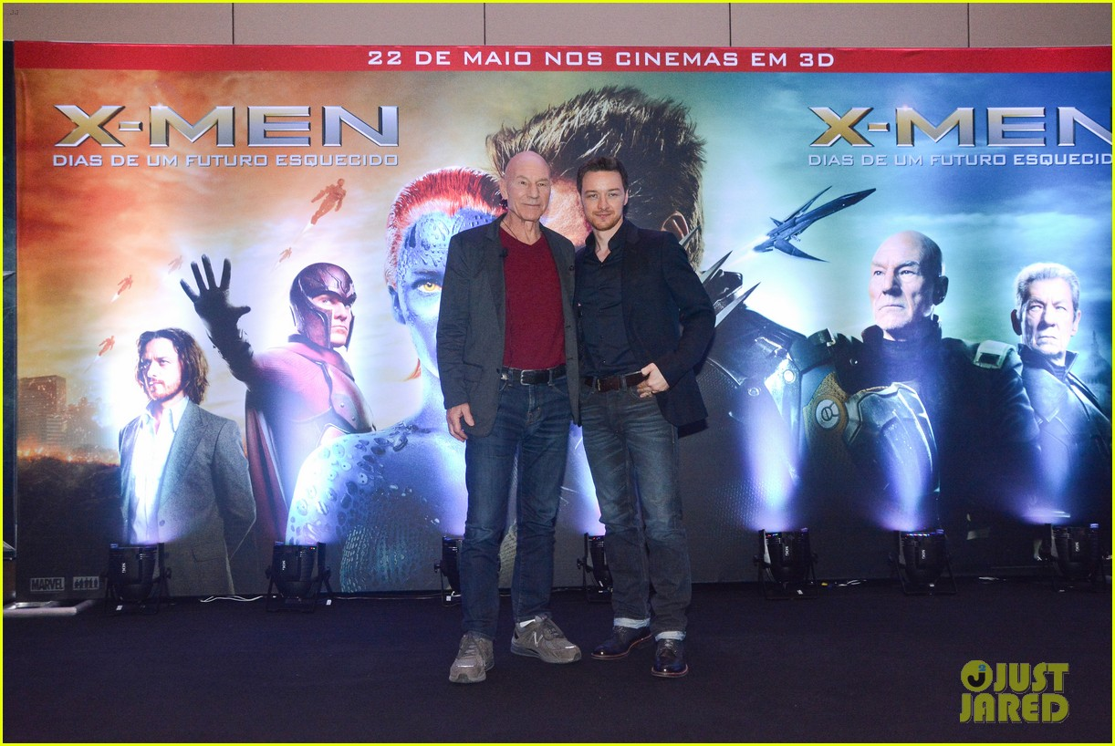 james mcavoy joins patrick stewart in sao paulo for x men press 063113892
