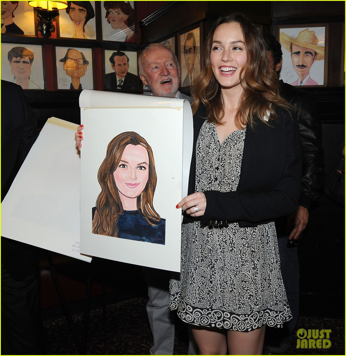 leighton meester james franco get caricatures at sardis 013119440
