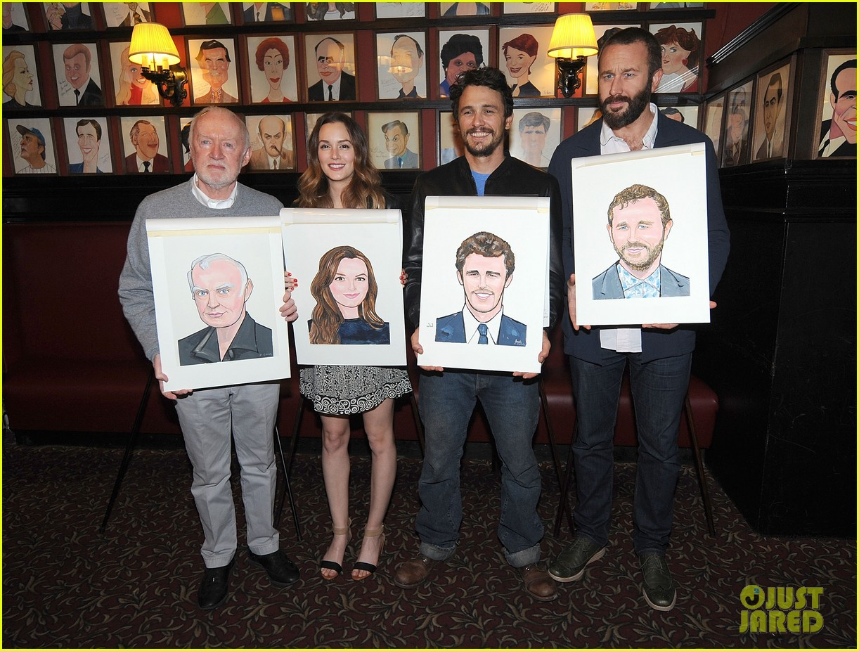 leighton meester james franco get caricatures at sardis 03