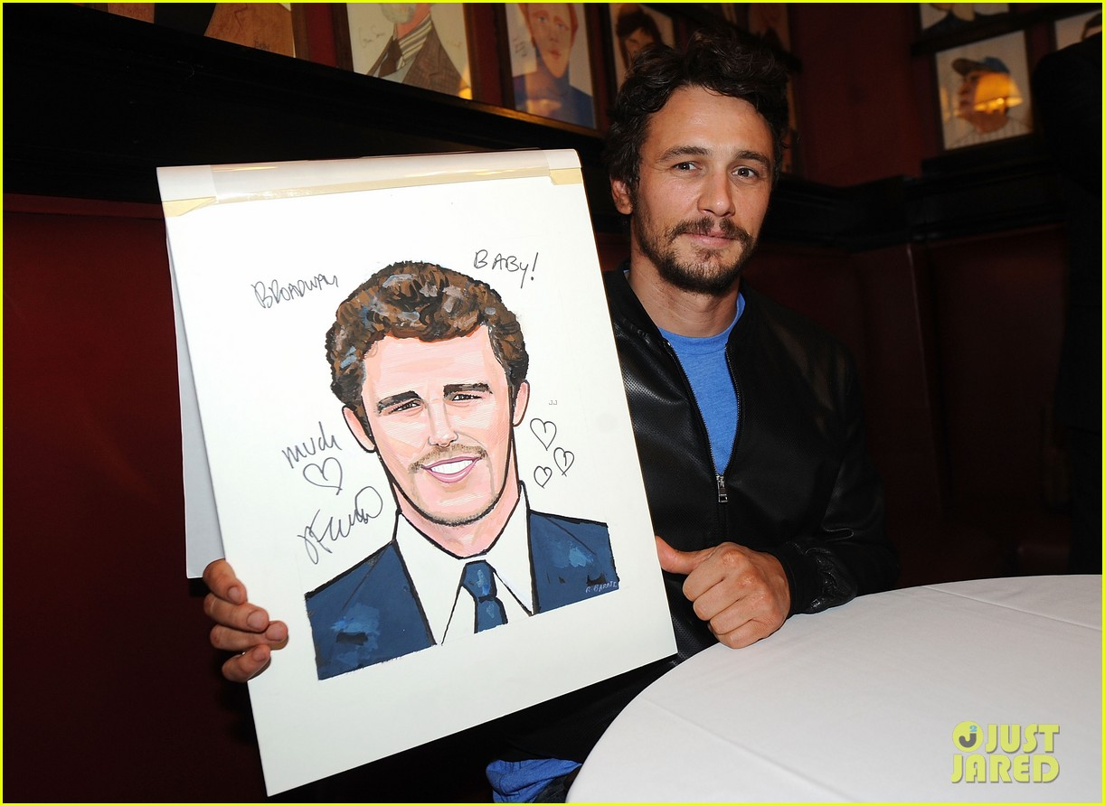 leighton meester james franco get caricatures at sardis 05