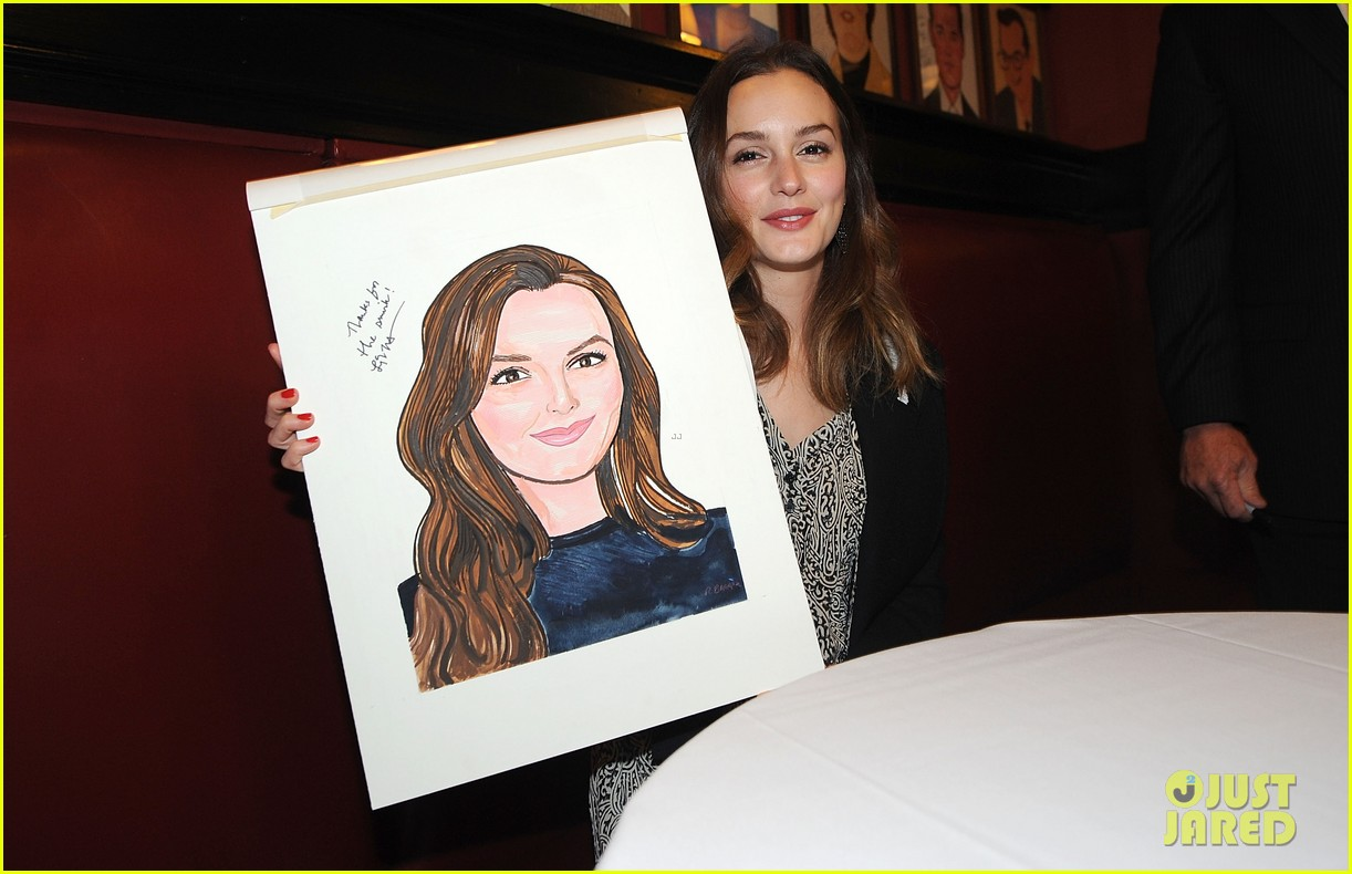 leighton meester james franco get caricatures at sardis 103119449