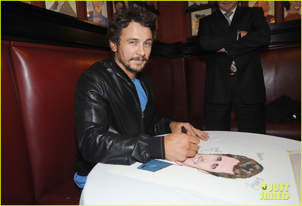 leighton meester james franco get caricatures at sardis 17