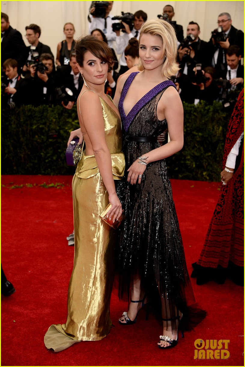lea michele dianna agron met ball 2014 01