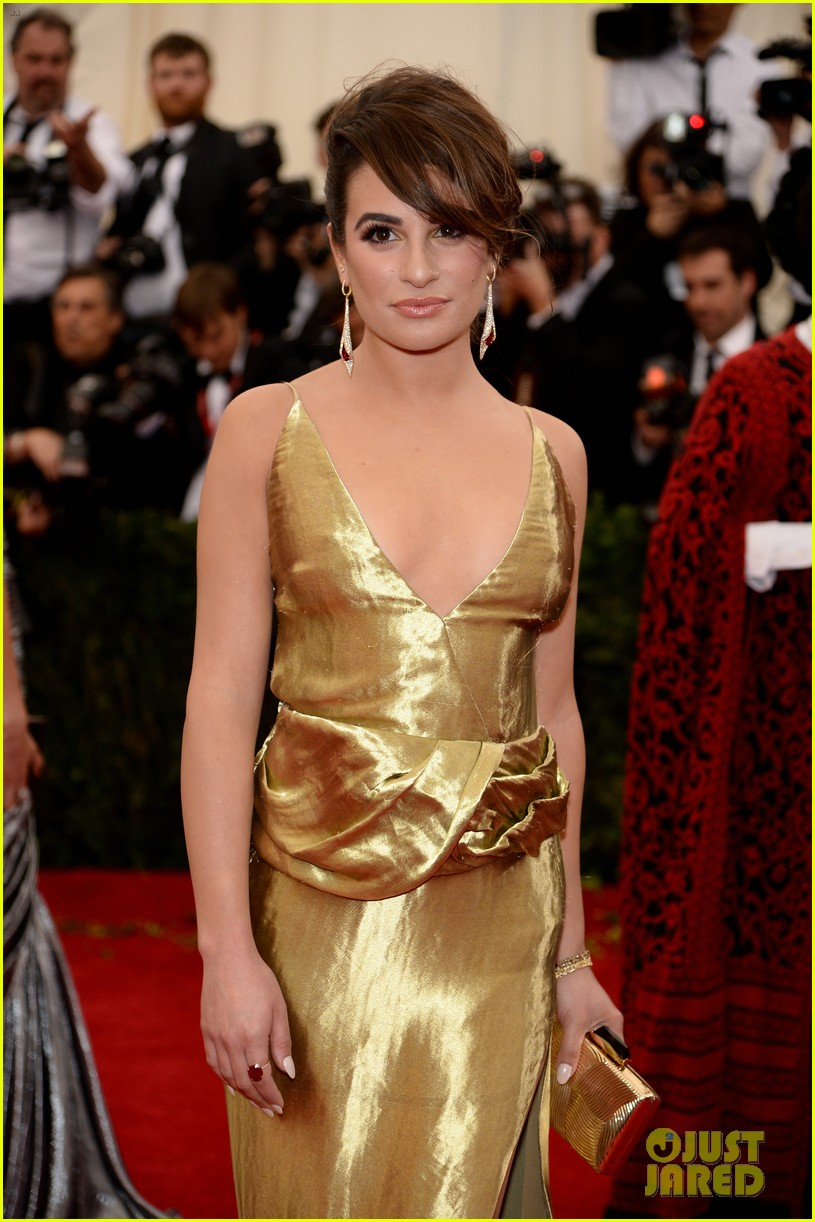 lea michele dianna agron met ball 2014 02