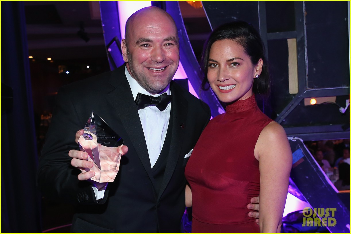 olivia munn presents award to dana white sports spec gala 01