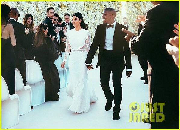 kim kardashian kanye west wedding picture 013122701