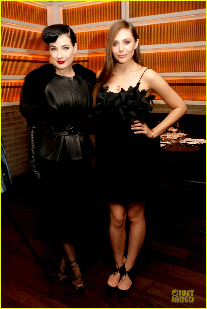 elizabeth olsen dita von teese flaunt shark issue party 01