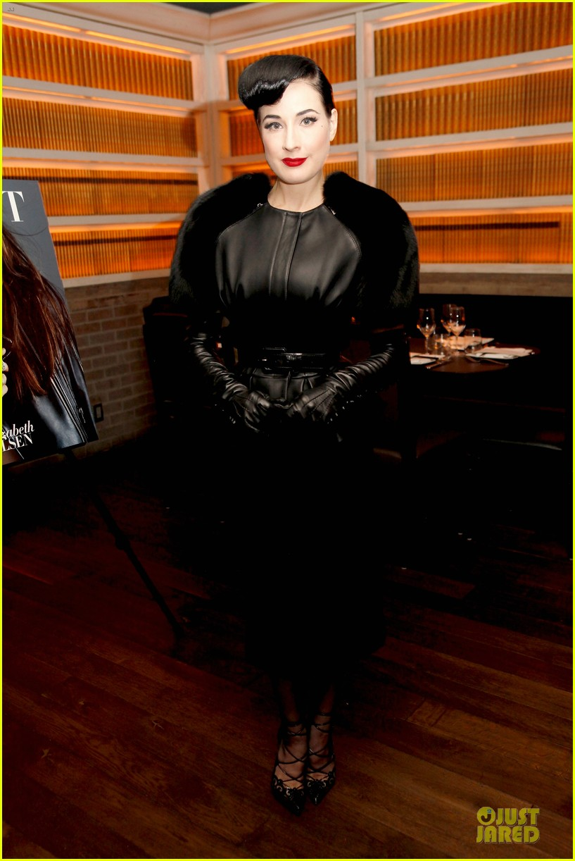 elizabeth olsen dita von teese flaunt shark issue party 07