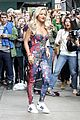 rita ora blooming floral statement in soho 08