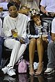 rihanna cheers on lebron james at nets heat game 10