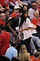 rihanna melissa forde cheer on clippers 01