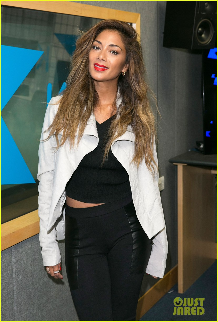 nicole scherzinger visits kiss fm to premiere new single your love 05