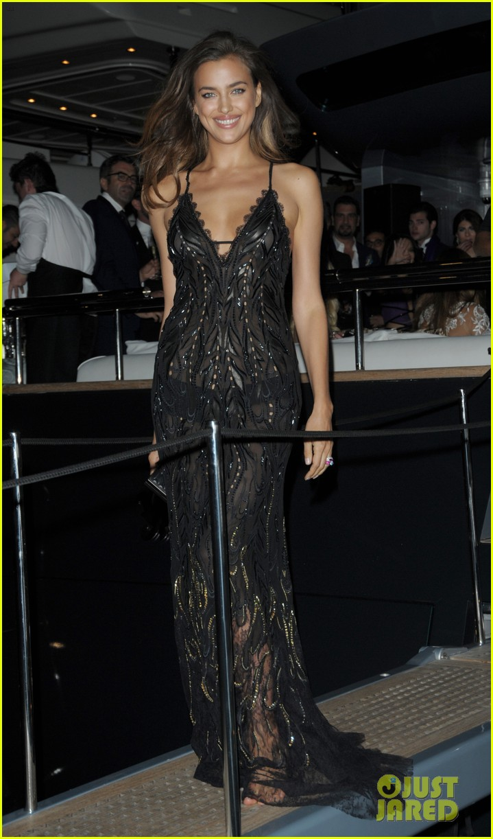 irina shayk green goddess at search premiere cannes 213119649