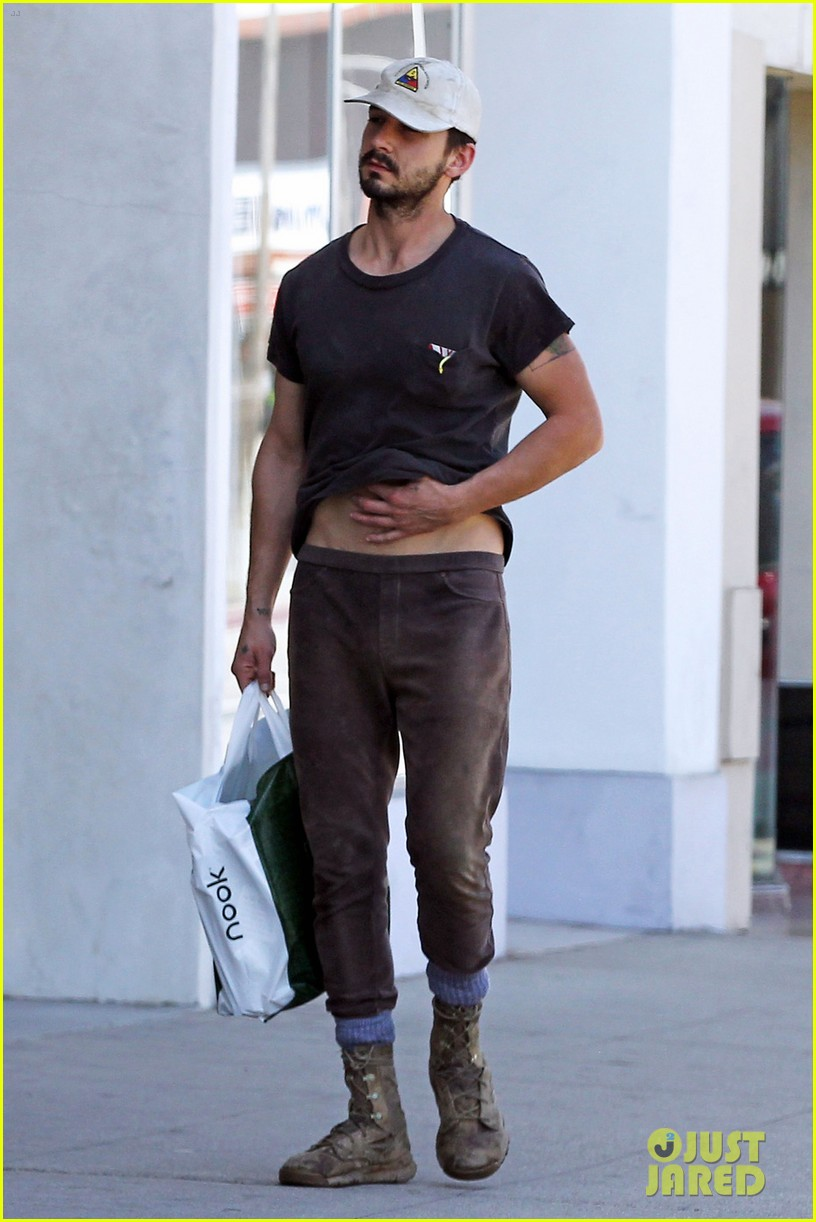 shia labeouf gives us a quick peek at his bare torso 063102992