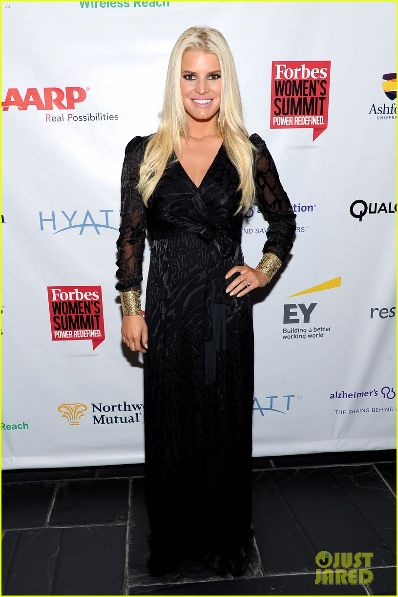 jessica simpson stunning slim forbes womens summit 01