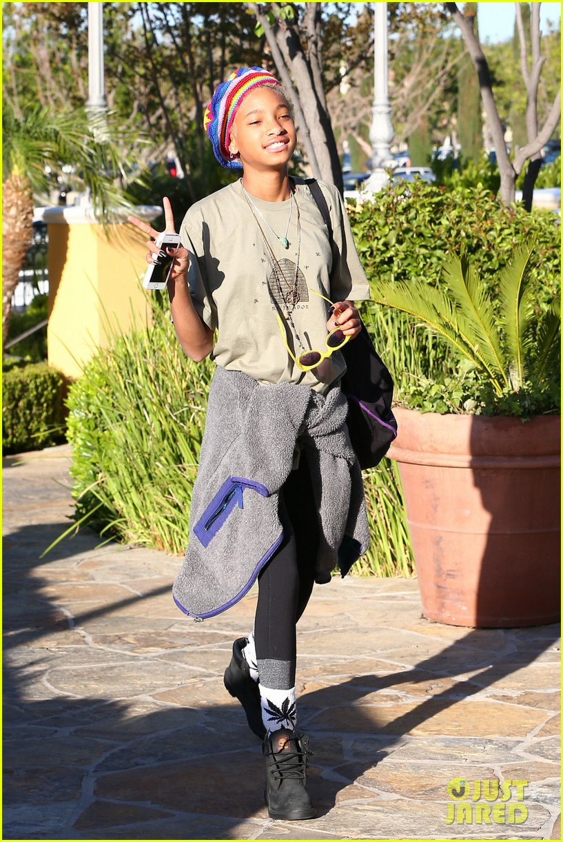 willow smith wears socks with marijuana leaf on the front 193102966
