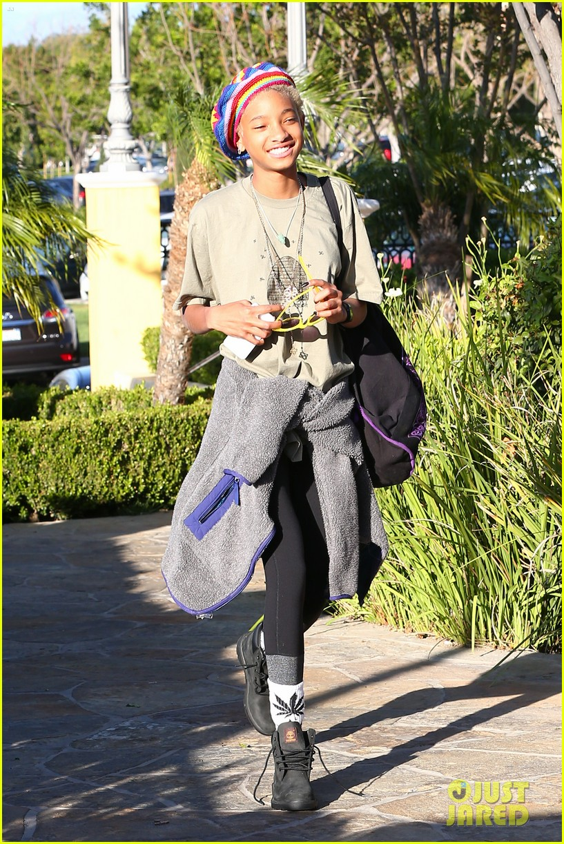 willow smith wears socks with marijuana leaf on the front 23