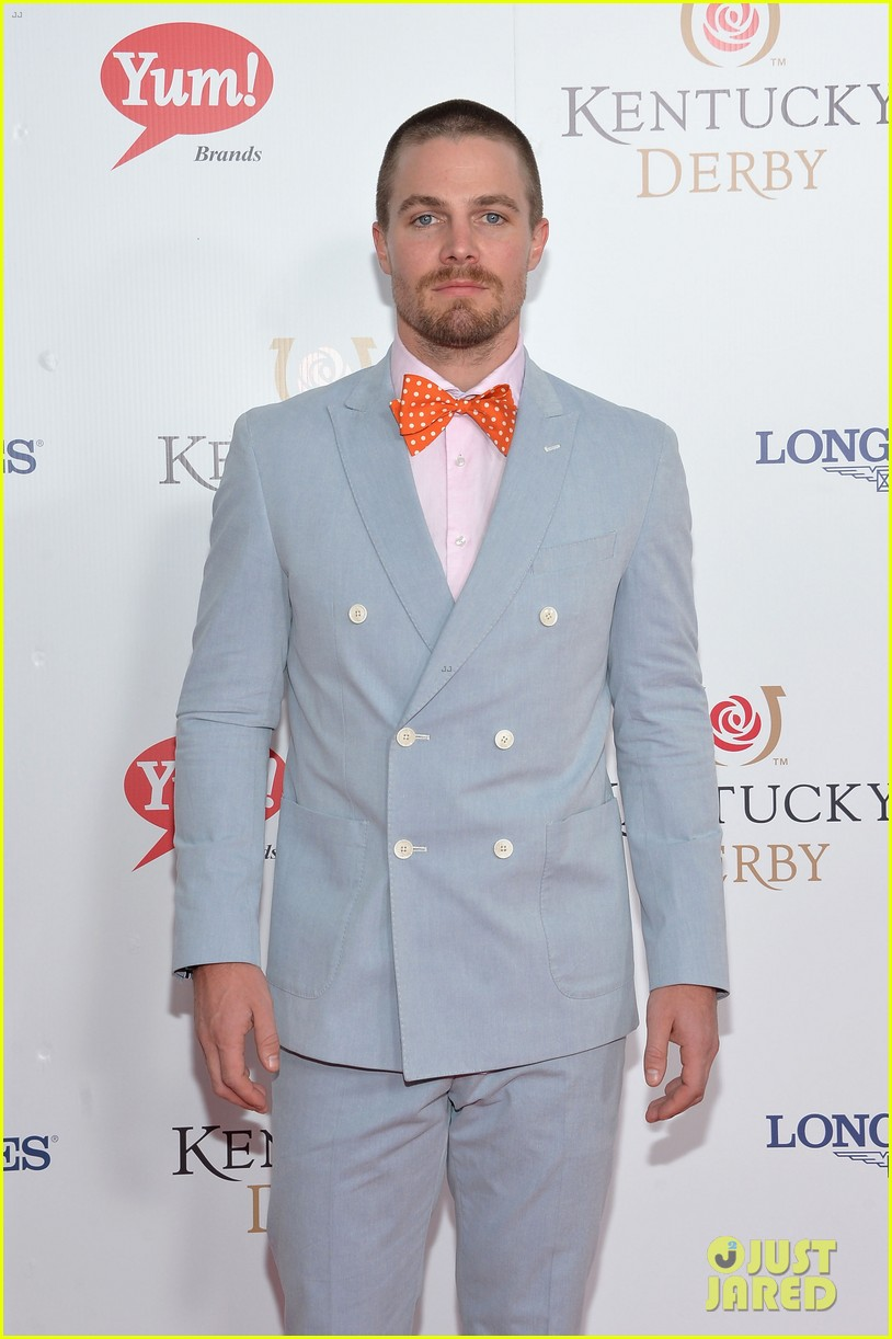 stephen amell josh henderson colorful patterns kentucky derby 13