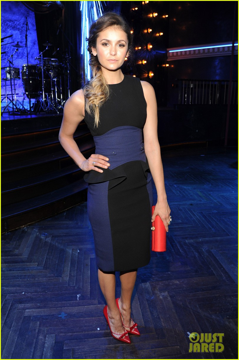 paul wesley nina dobrev cw upfront party 01