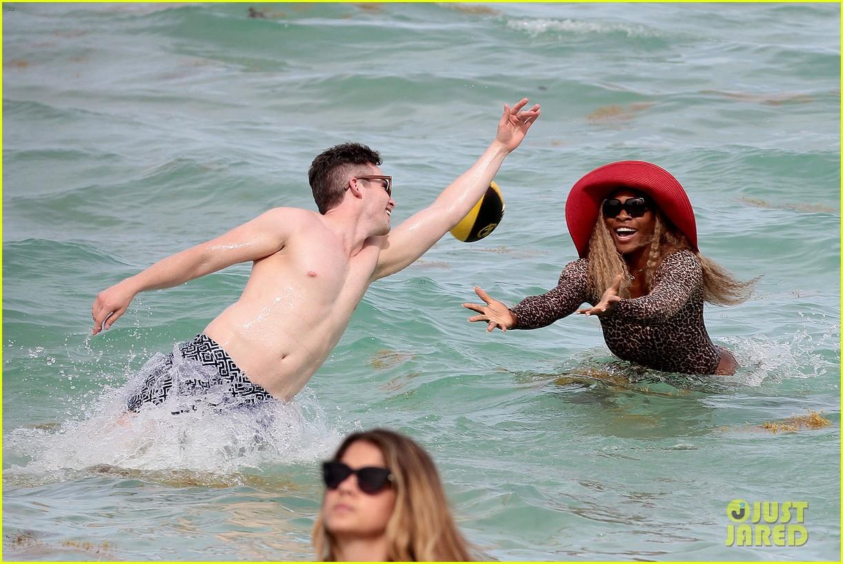 serena williams bootylicious beach caroline wozniacki 383125547