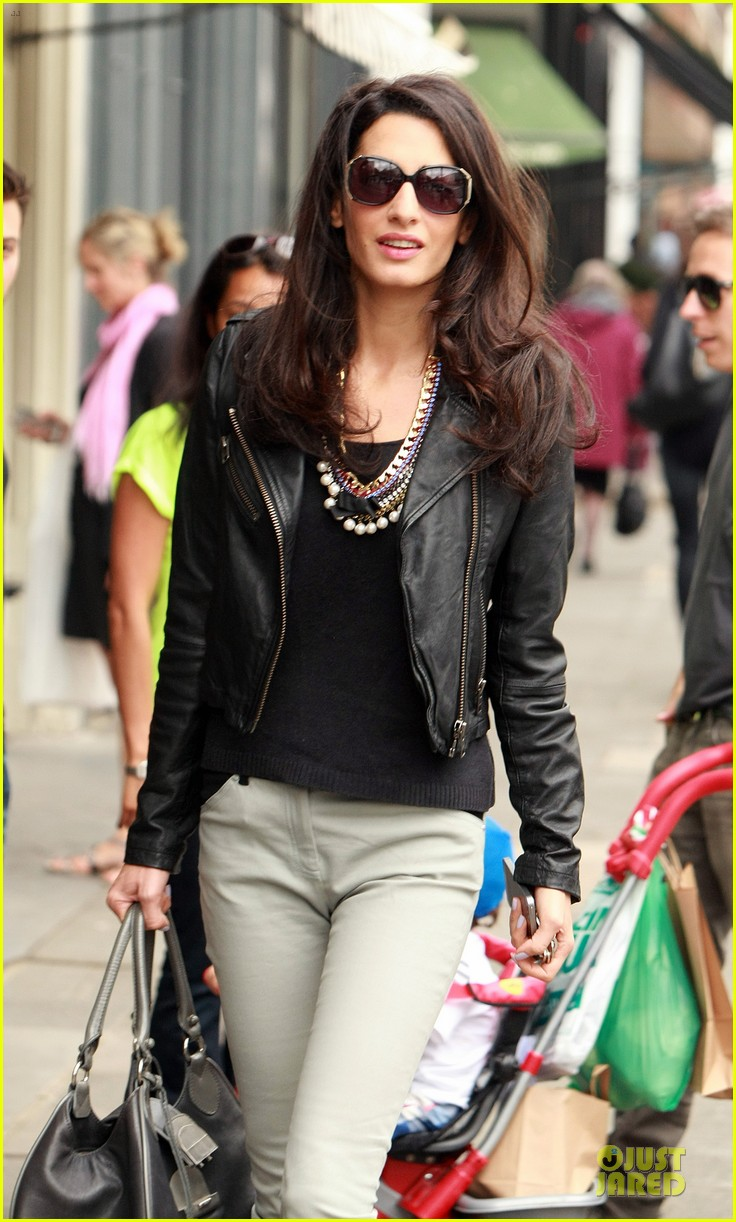 amal alamuddin epitome urban chic in london 09