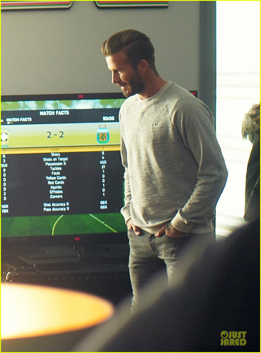 david beckham plays soccer match adidas commercial 043130502