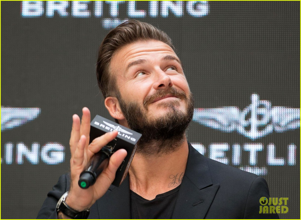 david beckham breitling press conference in beijing 133133995