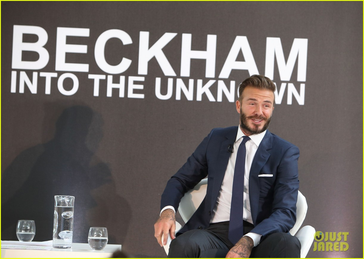 david beckham attends photo call for his documentary into the unknown 01