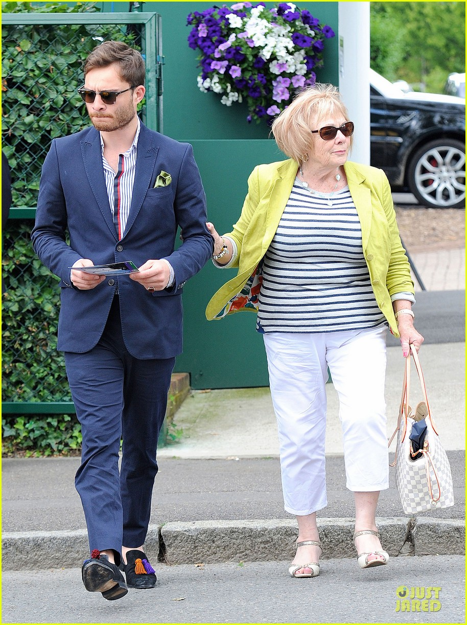 david beckham ed westwick dapper at wimbledon 053145530