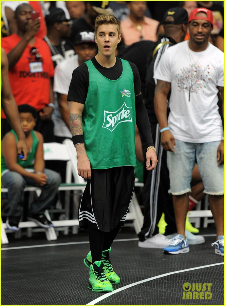 justin bieber chris brown bet celeb basketball game 18