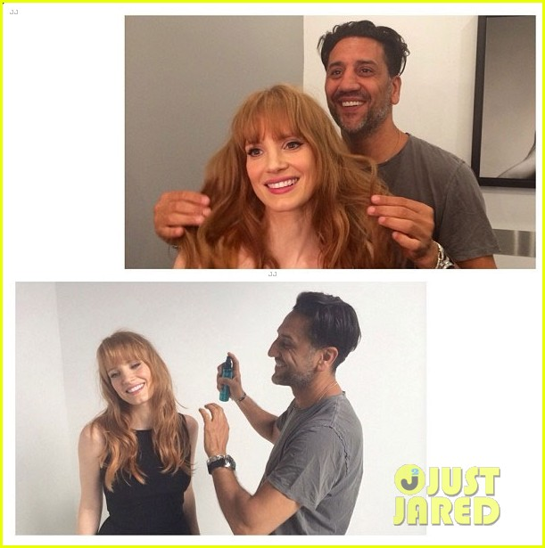 jessica chastain has bangs now new hairstyle 02