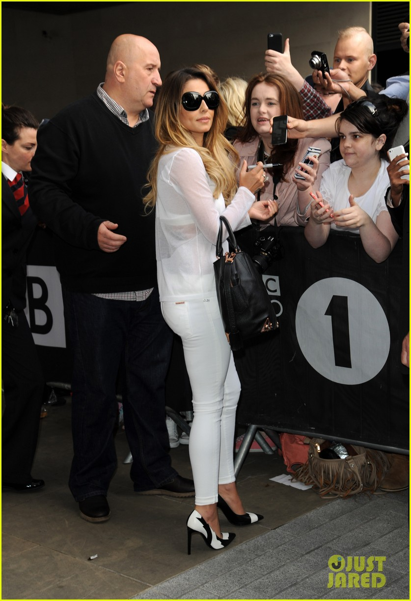 cheryl cole visits bbc radio 1 to premiere new single 083126328